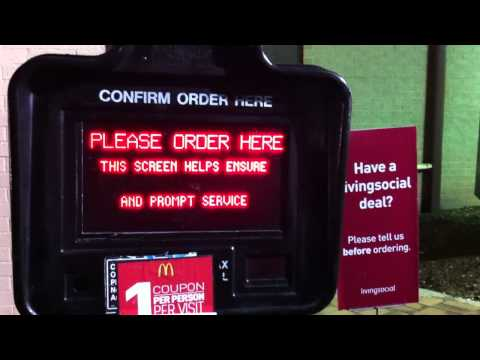 Very Poor 11PM Drive Through Service At The McDonalds Location In Washington DC