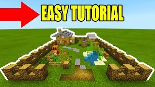 """Minecraft Tutorial: How To Make A Easy Beginner Survival Base """"With Everything You Need To Survive"""""""