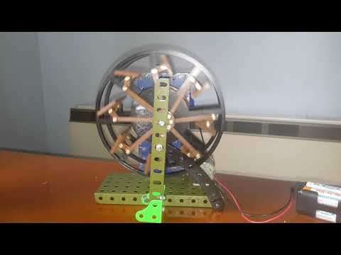 3D printed feathering paddle wheel