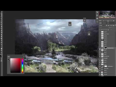 Photoshop Matte Painting Landscape concept