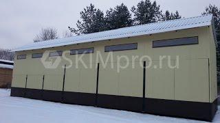 Монтаж быстровозводимого сборно-разборного склада-гаража из профнастила