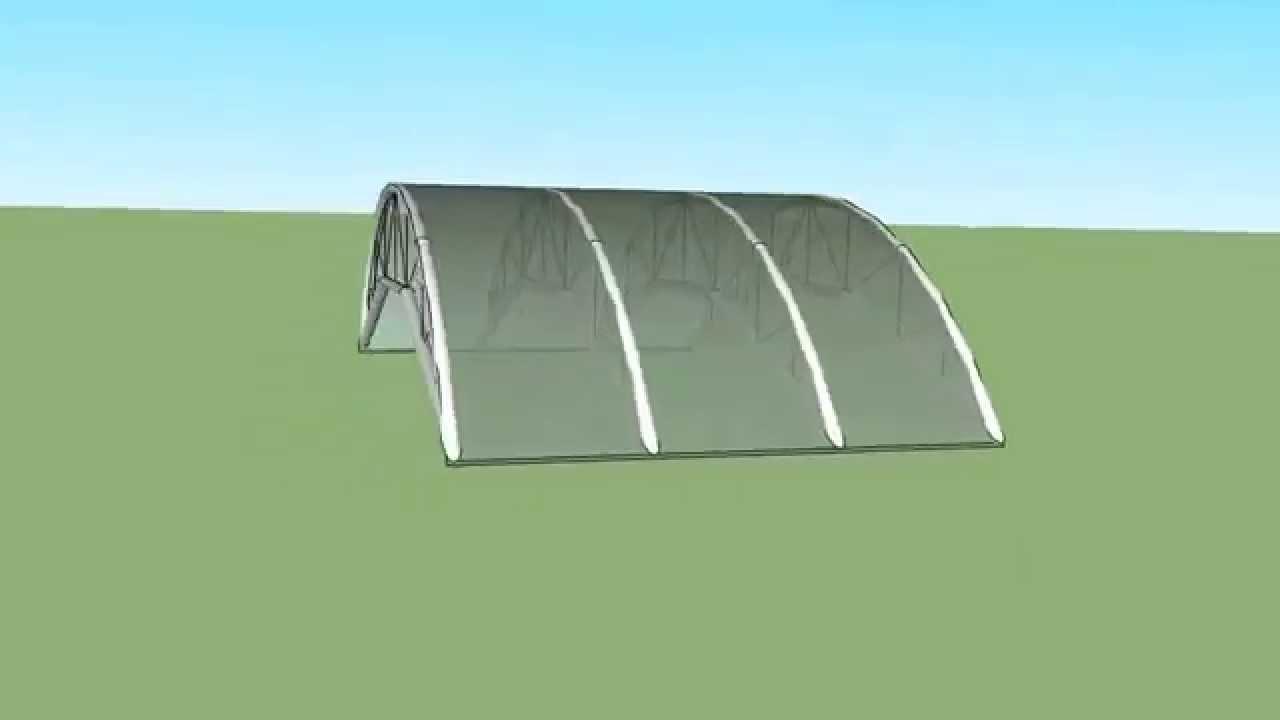 Techo para parqueadero policarbonato youtube for Modelos de gibson para techos
