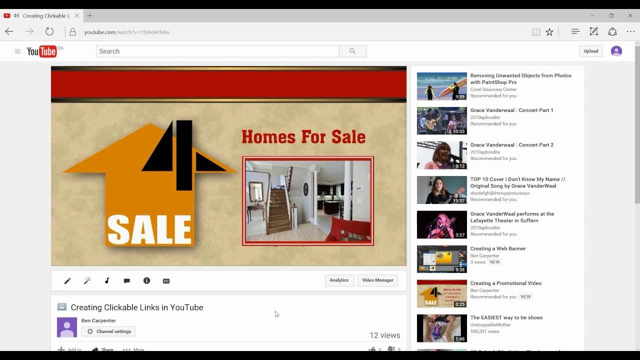 Adding Clickable Links To Youtube Videos Youtube