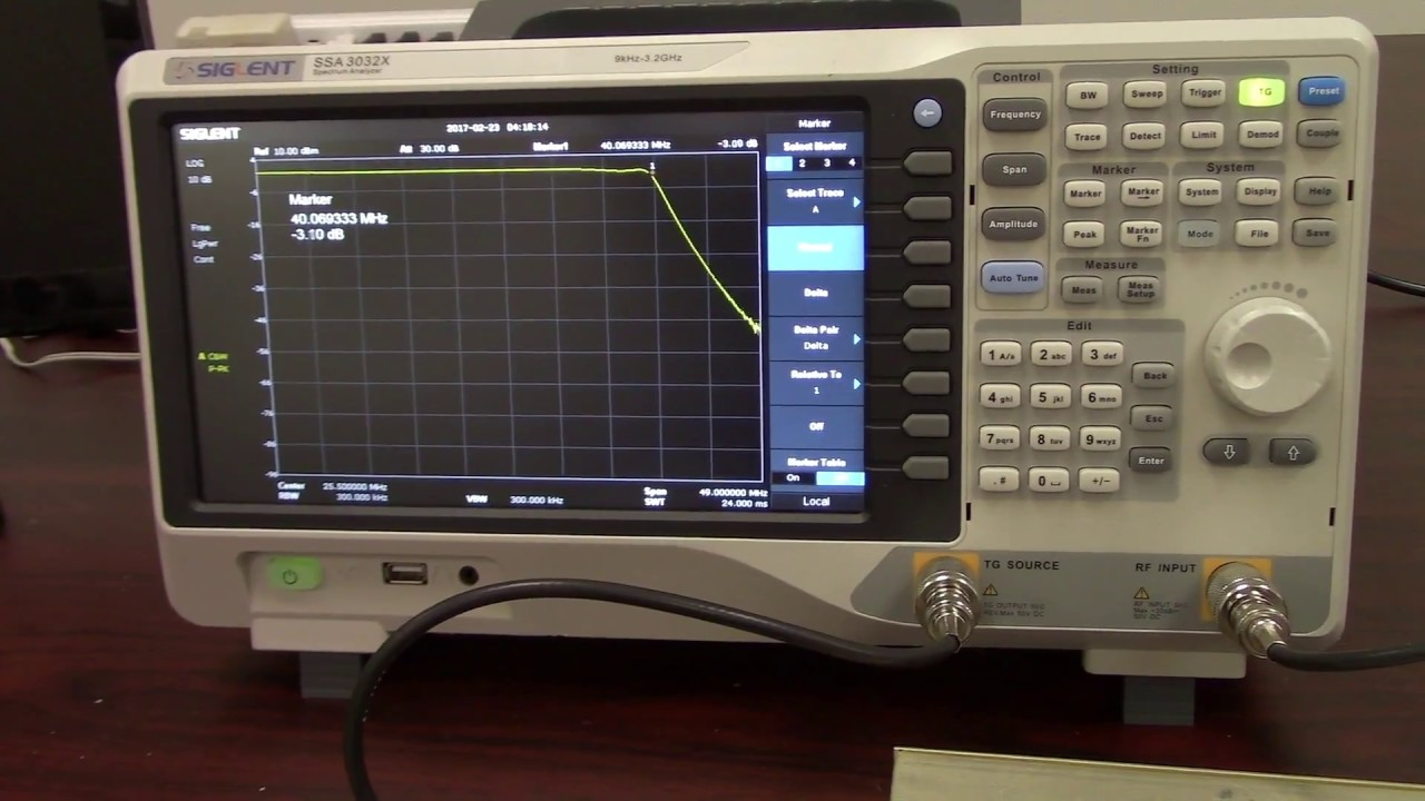 Function Generator And Oscilloscope : Find a filters db point using an oscilloscope and