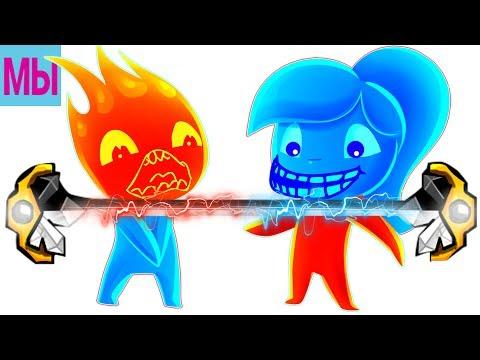 Мультфильм девочка вода мальчик огонь и девочка вода