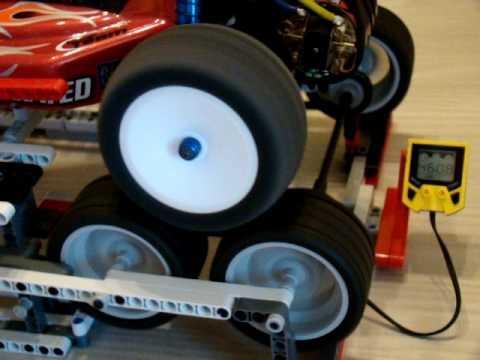 RC10 B4 LEGO dino test ( speed test)