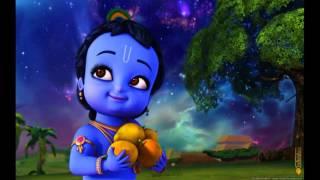 Little krishna starting sweet flute music