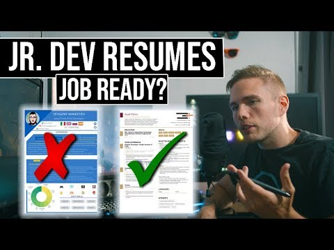 Jr. Dev Resumes | JOB READY? | #grindreel