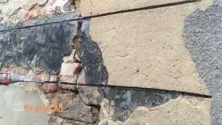 Naprawa pękniętego muru w systemie Statical-STATIbar-Naprawa Pęknięć Ścian