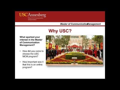 USC Master Of Communication Management Online: The Student Experience