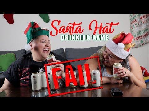 Santa Hats Drinking Game - FAIL!