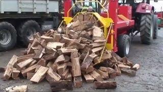 How technologies help to prepare firewood | Mechanical chopper lumberjack | Technologies