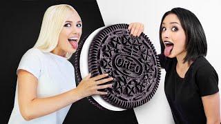 تحدي الطعام الأسود والأبيض كريزي    مواقف مضحكة في تحدي لون واحد 24 ساعة