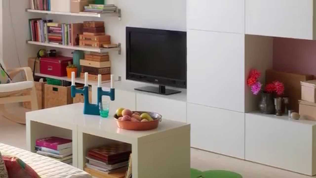 best storage system ikea home tour youtube. Black Bedroom Furniture Sets. Home Design Ideas