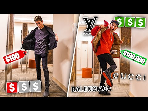$100 Outfit VS $100,000 Outfit **shocking**