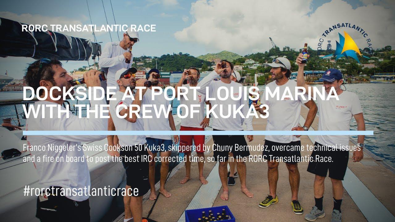 2018 RORC TRANSATLANTIC RACE KUKA3 FINISH