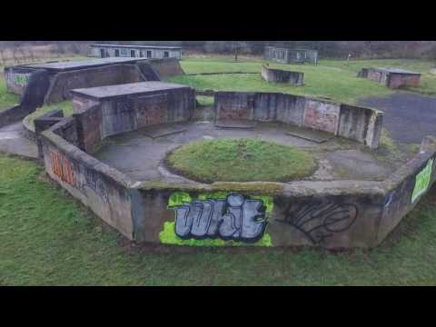 Uddingston Anti Aircraft Emplacements Aerial Video