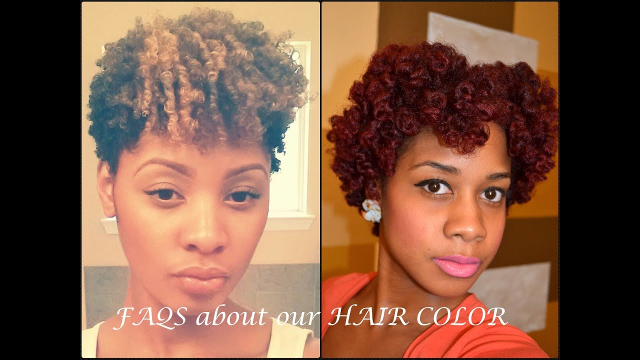 FAQS about Hair Color on Natural Hair - YouTube