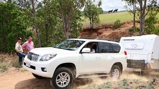 TOYOTA LANDCRUISER PRADO CRAWL CONTROL WITH OFFROAD CARAVAN - AUSTRALIA - GALL BOYS