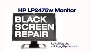 hp lp2475w lcd monitor repair rectifier replacement fix solved memperbaiki monitor hp