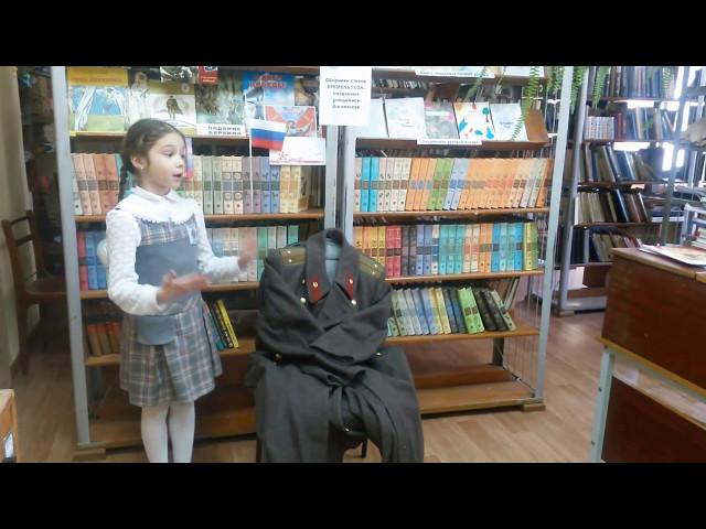 Изображение предпросмотра прочтения – АксиньяБуторина читает произведение «Шинель» Е.А.Благининой