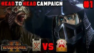 Head to Head Campaign #1: Tomb Kings vs Clan Rictus (Turin) - Mortal Empires |Total War: Warhammer 2