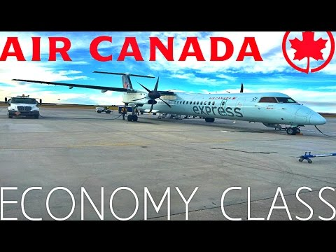 Air Canada ECONOMY CLASS Seattle to Vancouver|De Havilland Dash 8-Q400
