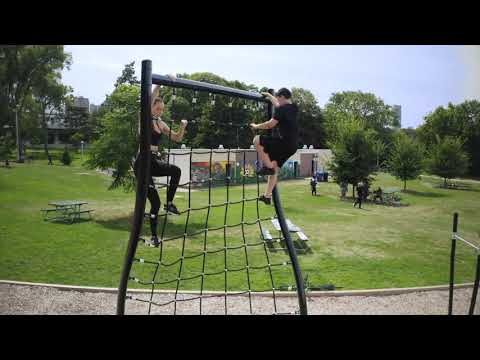 TREKFIT Outdoor Fitness Equipment - Outdoor Obstacle Course For Parks - Cargo Net