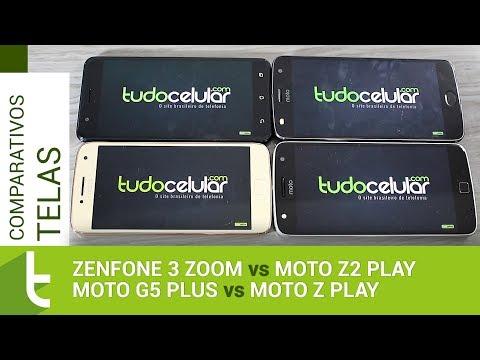 Zenfone 3 Zoom, Moto Z2 Play, G5 Plus e Z Play | Comparativo de telas TudoCelular