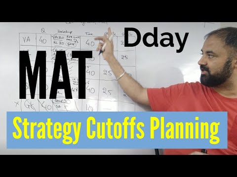 MAT Exam. Strategy planning cutoffs