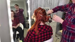 Видео урок «Локоны-косы»