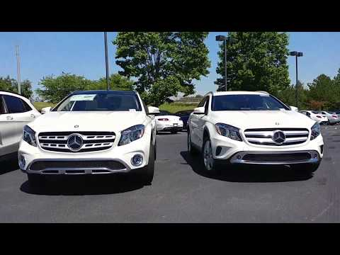 Compare the 2017 and 2018 Mercedes-Benz GLA250 - Facelift and Ice Edition