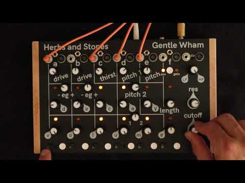 Herbs and Stones Gentle Wham - six voice analog drum synth