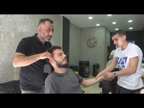 ASMR Turkish Barber Face, Head and Body Massage 247 Hooka Time thumbnail