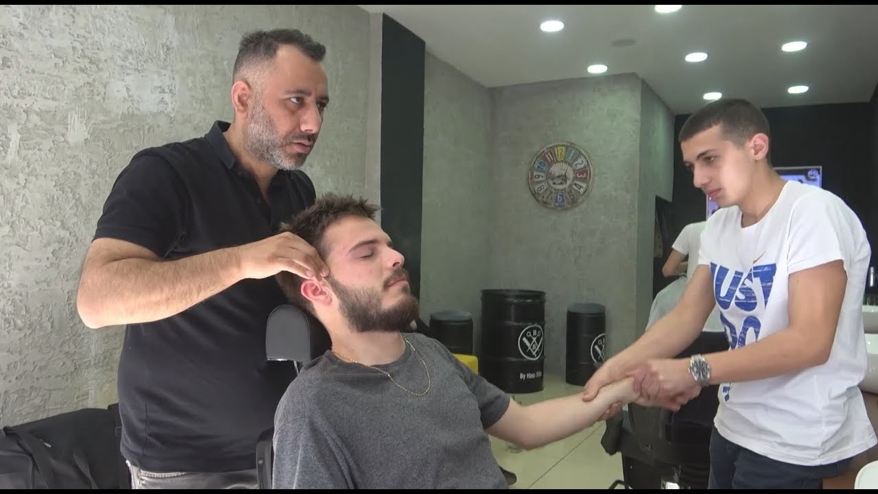 ASMR Turkish Barber Face, Head and Body Massage 247 Hooka Time