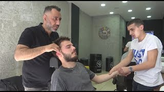 ASMR Turkish Barber Face, Head and Body Massage 247 Hooka Time