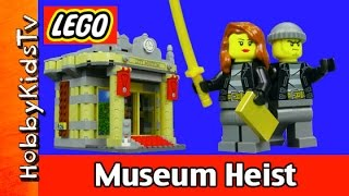 LEGO City Museum Heist Cops and Robbers twitter Instagram Facebook HobbyKidsTV