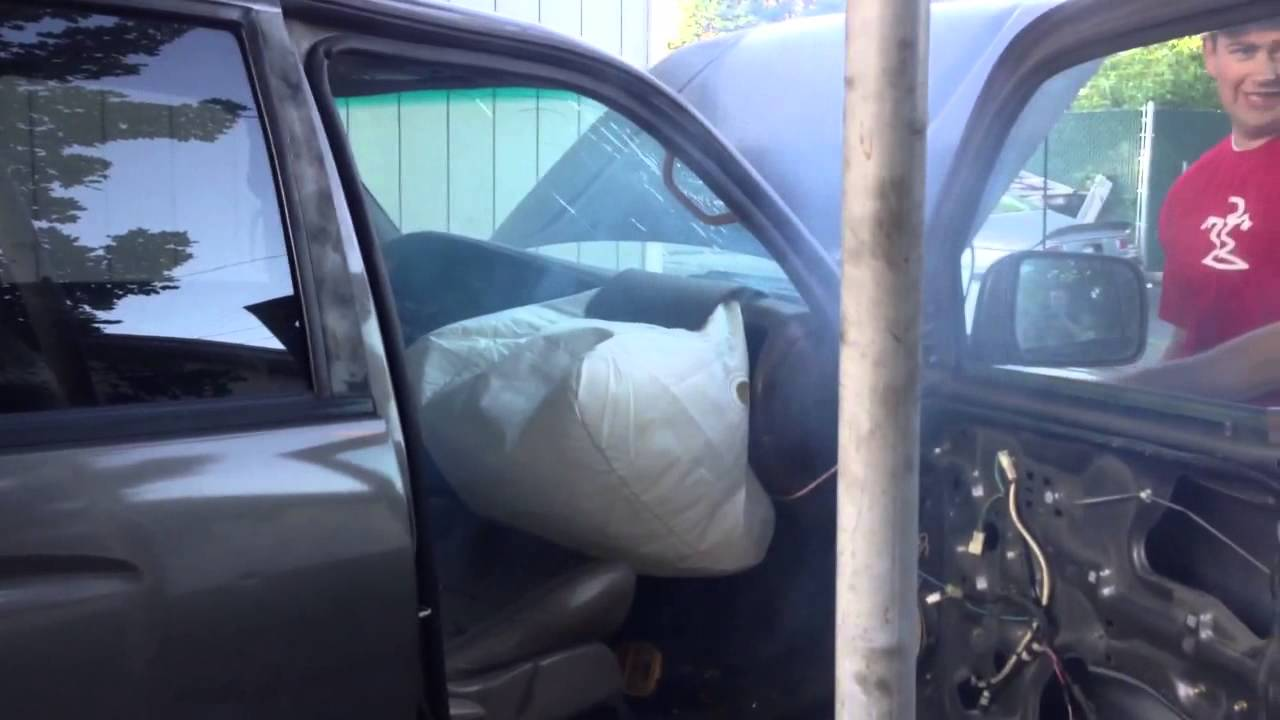 Toyota 4runner Air Bag Deployment Youtube