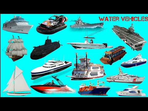 Water vehicles name || Boats & ships || पानी के वाहनों का नाम || Easy english learning process
