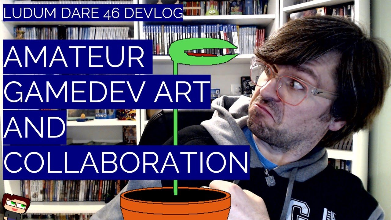 Thumbnail images for Developer Art & Collaboration | A Ludum Dare 46 Devlog video