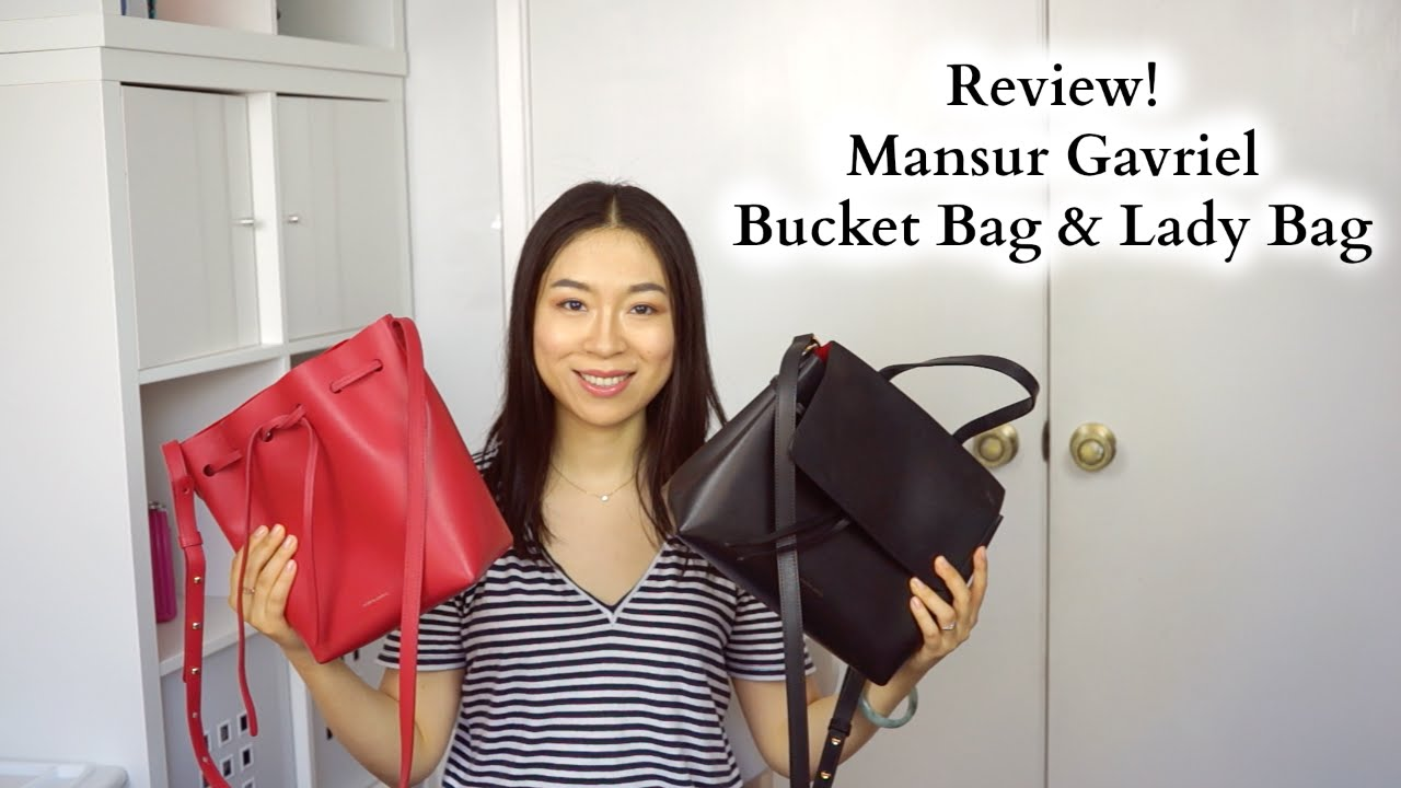 Mansur Gavriel Mini Bucket Bag   Mini Lady Bag Review - YouTube 5c324c9af0da1