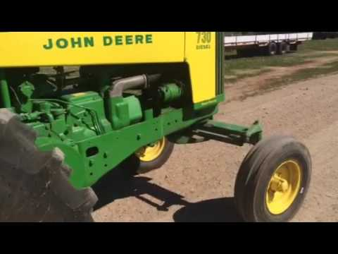 1959 John Deere 730 6 2 L 2 Cylinder 53 Hp Diesel Engine Direct Start Power Steering Wide Front Sin