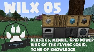 05 Plastic, Menril, Ring of the Flying Squid, Tome of Knowledge - Direwolf20 1.12