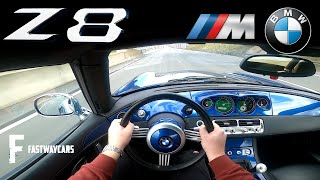 BMW Z8 400 HP V8 - V/max Top Speed - POV Test Drive on Autobahn