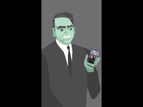 Dirch Passer bruger en smartphone