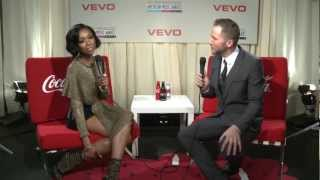 Brandy Backstage at the 2012 American Music Awards in Ekaterina Kukhareva dress !
