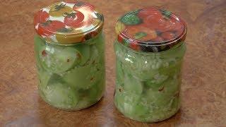 Зелёные помидоры дольками на зиму / Green tomatoes wedges for the winter