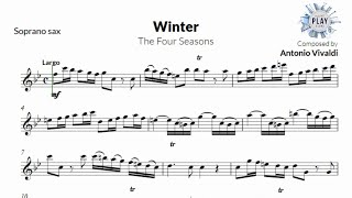 WINTER (FOUR SEASONS) for solo SOPRANO SAXOPHONE (version without metronome for all instruments 🎻❄👇)