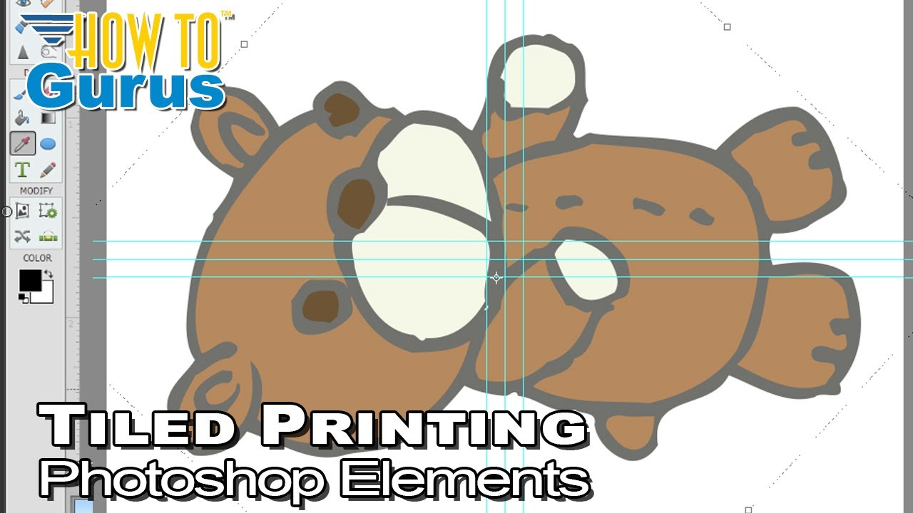 do tiled printing in photoshop elements