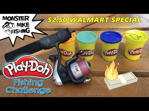 Play-Doh Fishing Challenge | Monster Mike